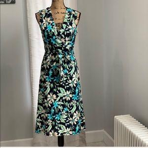 Liz Claiborne floral wrap dress size M